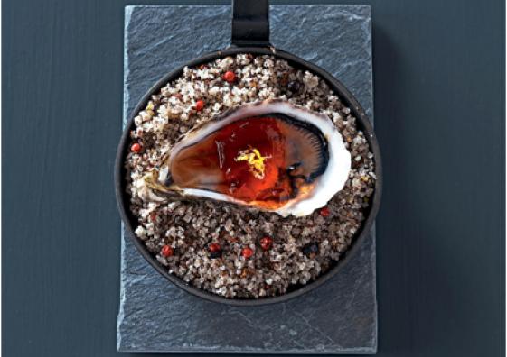 Huître sur lit de sel de Guérande Le Guérandais