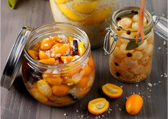 Bocaux de fruits confits au gros sel gris de Guérande