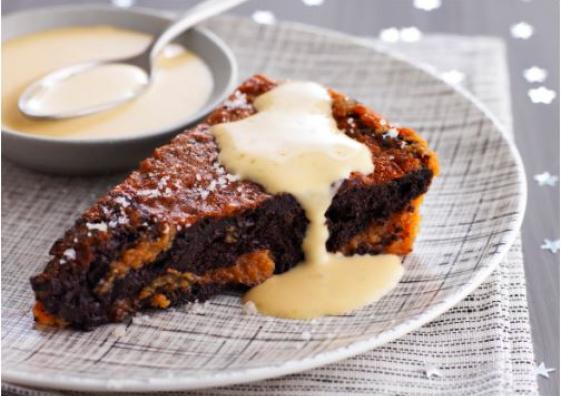 Moelleux au chocolat et Caramel à la Fleur de Sel de Guérande