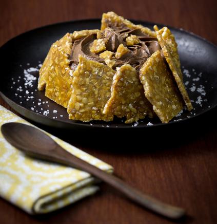 Nougatine Tartlet And Chocolate Mousse Le Guerandais